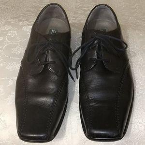 Men's Clark Aze Day Black leather Square Toe Lace